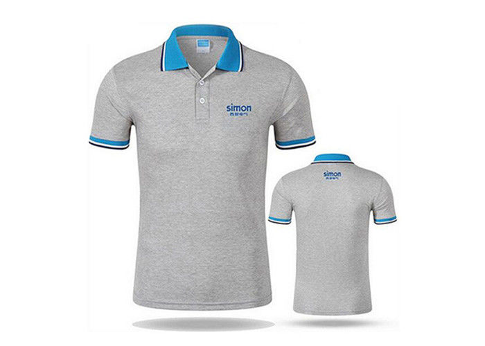 Advertising Sports Polo T Shirt LOGO Printed 100% Cotton For Men