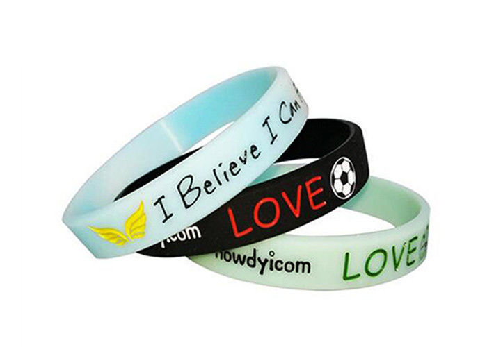 Sport Custom Promotional Bracelets Silicon Soft Color Changing Custom Logo