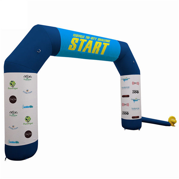 Outdoor Promotional Advertising Gifts Inflatable Race Arch With Air Blower